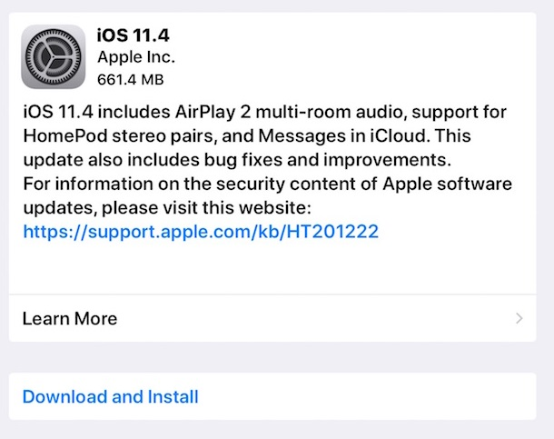 Apple iOS 11.4 Direct Download Links