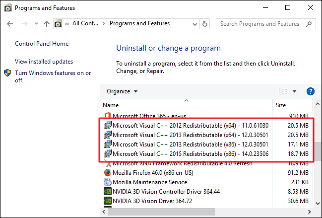 Direct Download Microsoft Visual C++ Redistributable All Versions