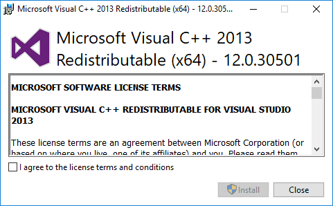 Download Microsoft Visual C++ Redistributable