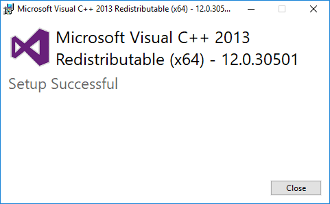 Once the Visual C++ Redistributable installation finishes, reboot your PC