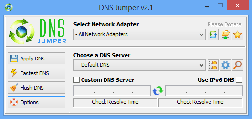 Download DNS Jumper 2.1 for Windows