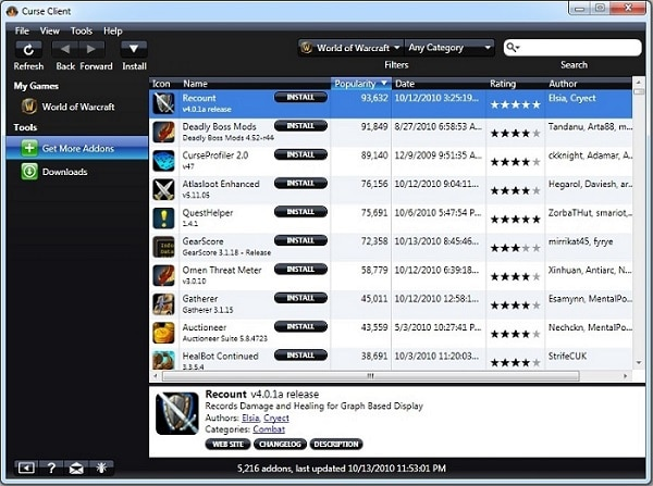 Download Curse Client Game Tool (Version 7.5.6345.42403)