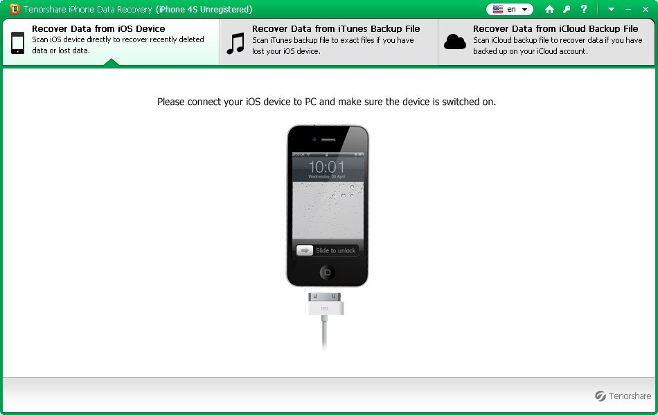 Tenorshare iPhone 4S Data Recovery2